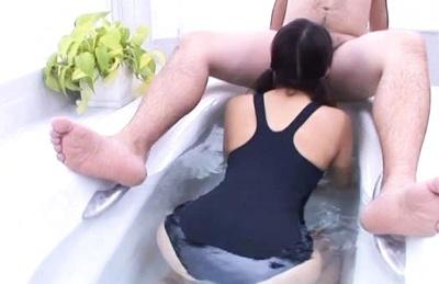 Ayu sakurai asian cutie gives hot oral action in the bath tub. Ayu Sakurai Asian cutie gives hot oral action in the bath tub